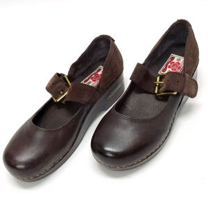 Lucky Brand Mary Jane Brown Leather Clogs